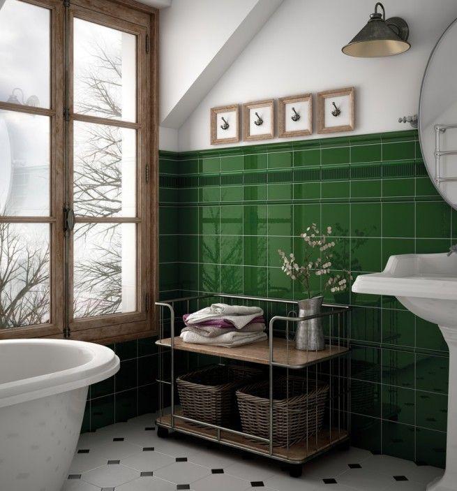 A Biztos Befuto Metro Csempe Inout Home Green Tile Bathroom Green Bathroom Victorian Bathroom