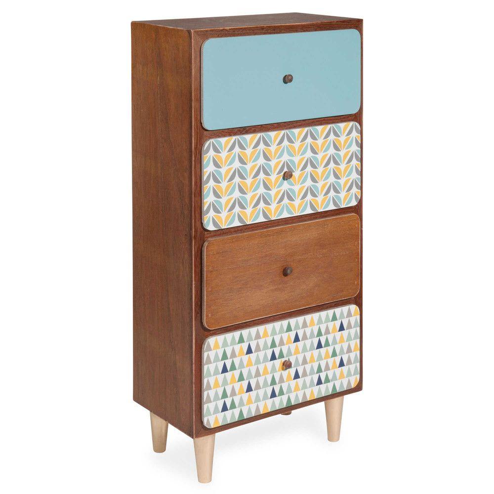 Mueble pequeño con 4 cajones Alt. 77 cm GREENWISH