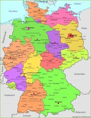 Politicheskaya Karta Germanii Germaniya Erfurt Magdeburg