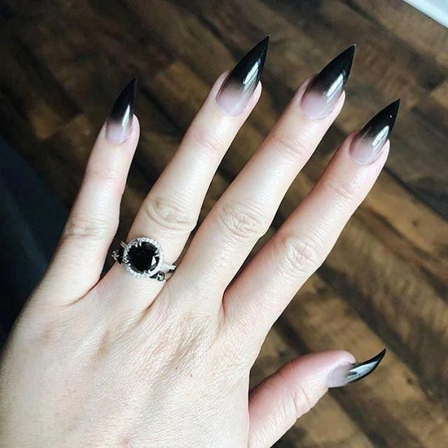 60+ Halloween Nail Art Ideas; Goth nails; Halloween 2018 ...