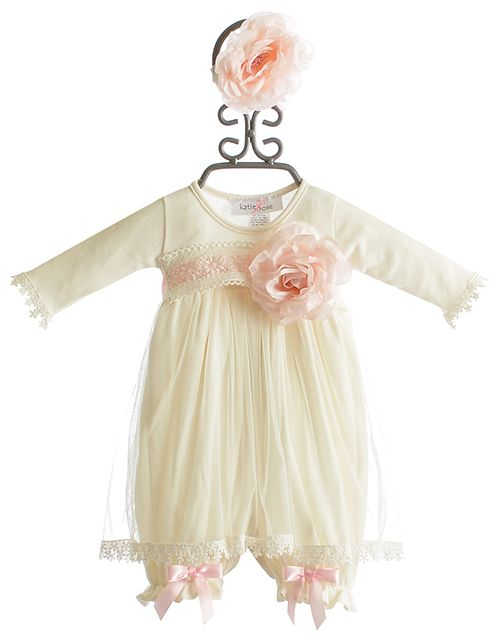 680a7d75a870 Katie Rose Infant Bloomer Dress in Ivory Abby (6Mos   9Mos)