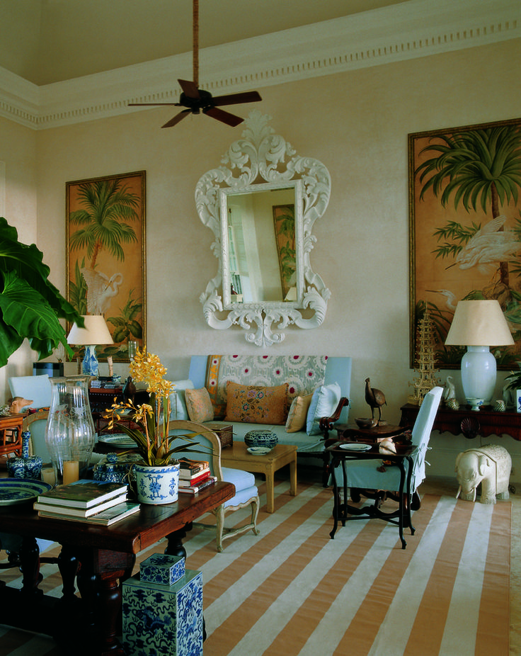 The Great Room In Bunny Williams And John Villa In The Dominican Republic  From