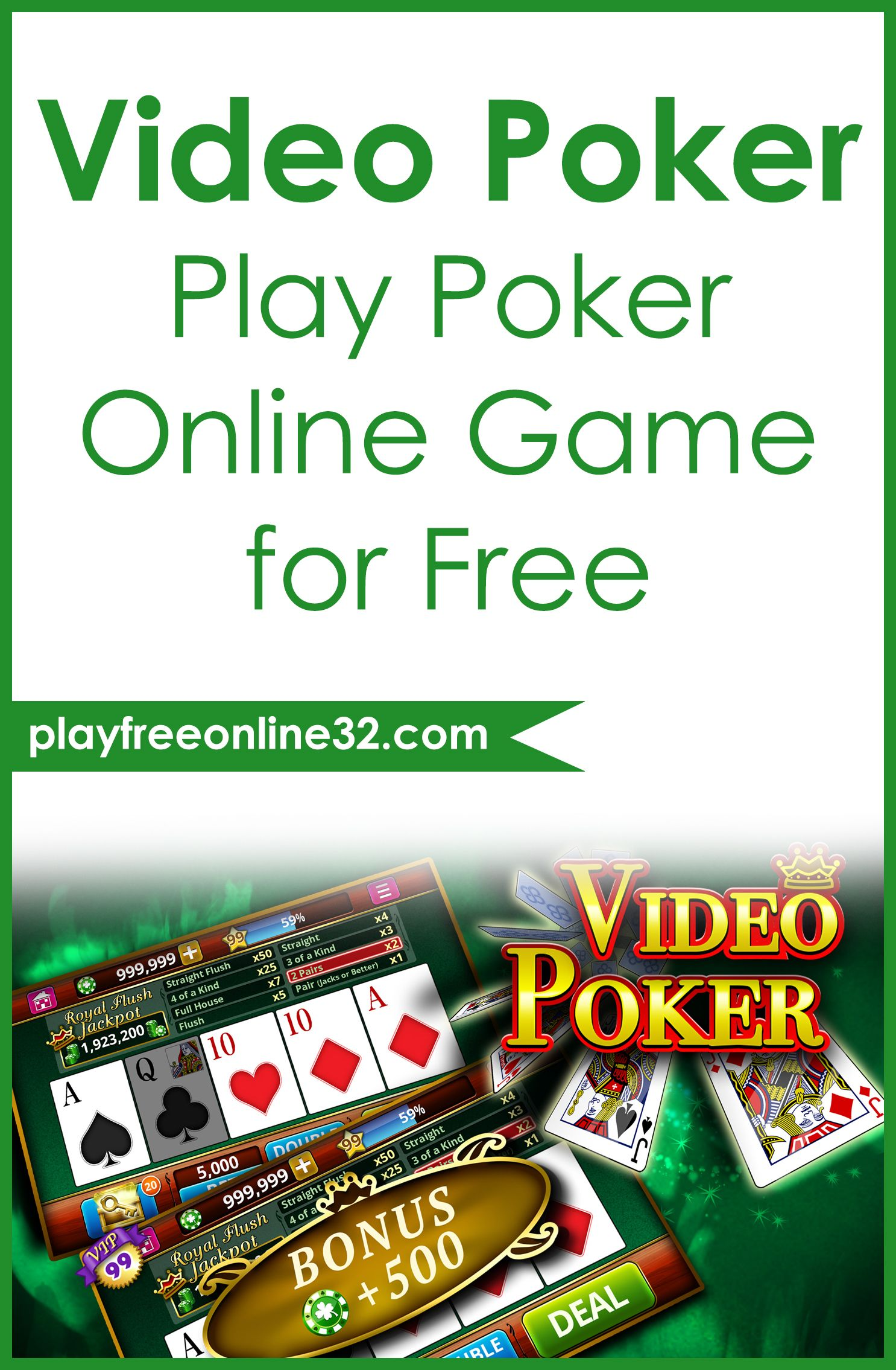Video Poker • Play Poker Online Game for Free Free
