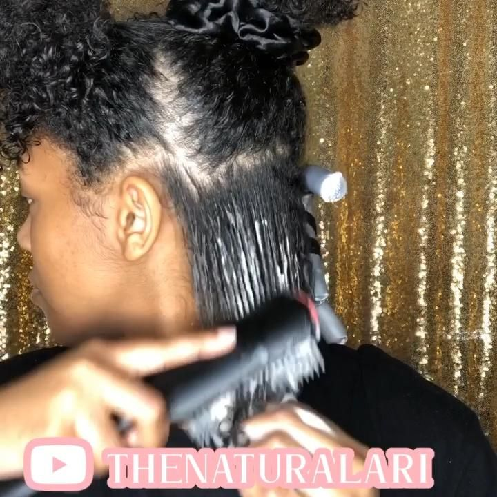 Here's a video of me brushing my hair during my detangling process❤️ #naturalhair #naturalhaircare #curlyhairstyles #healthyhairjourney