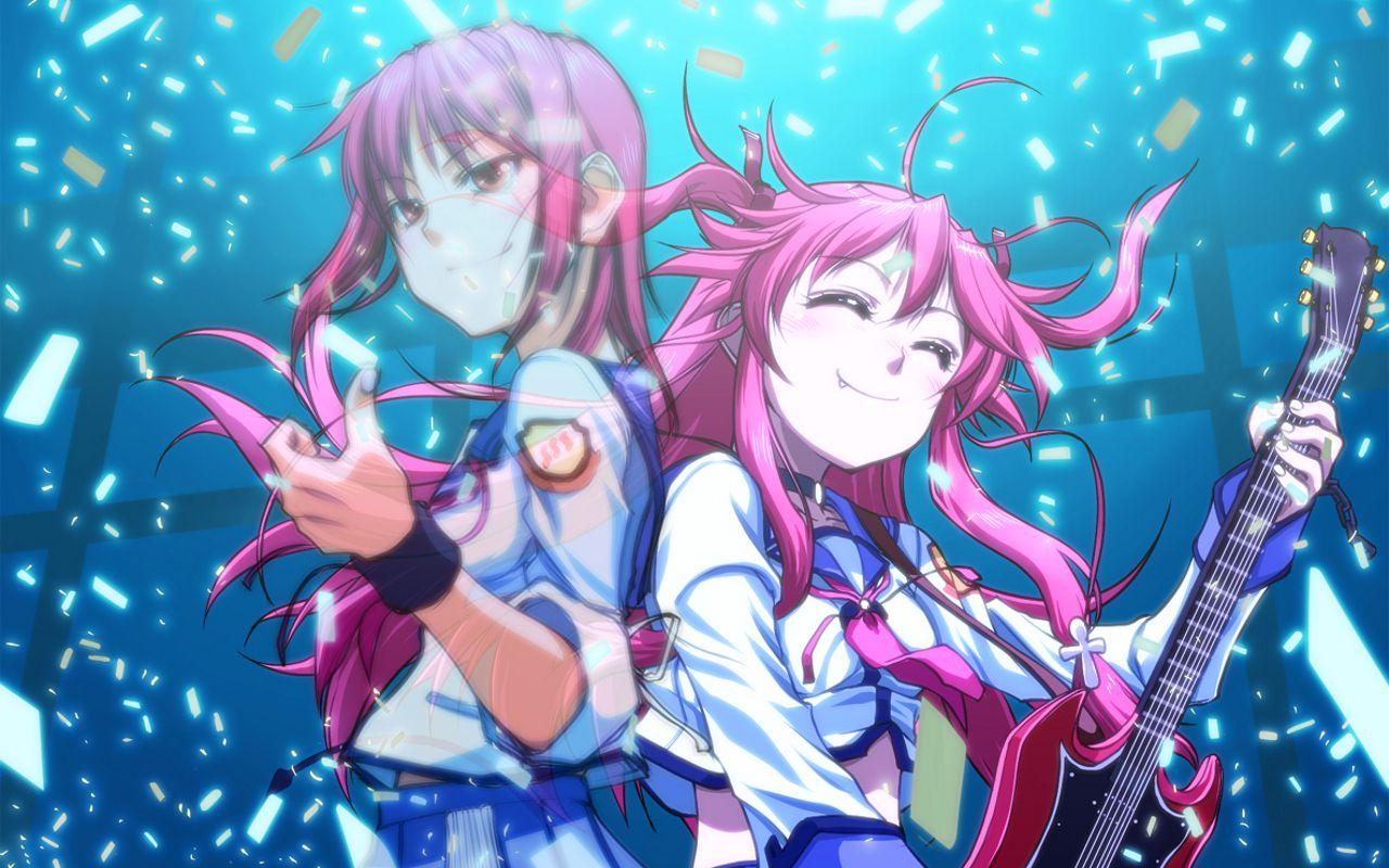 Iwasawa And Yui Angel Beats Wallpaper Anime