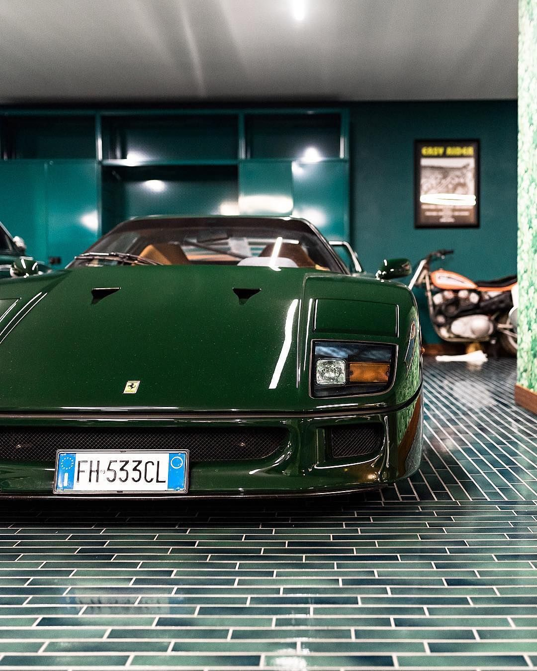 Is It Possible For An F40 To Look Better In Green Than Red This Finish Is Called Verde Abetone And It Might Just Classic Sports Cars Ferrari F40 Dream Cars