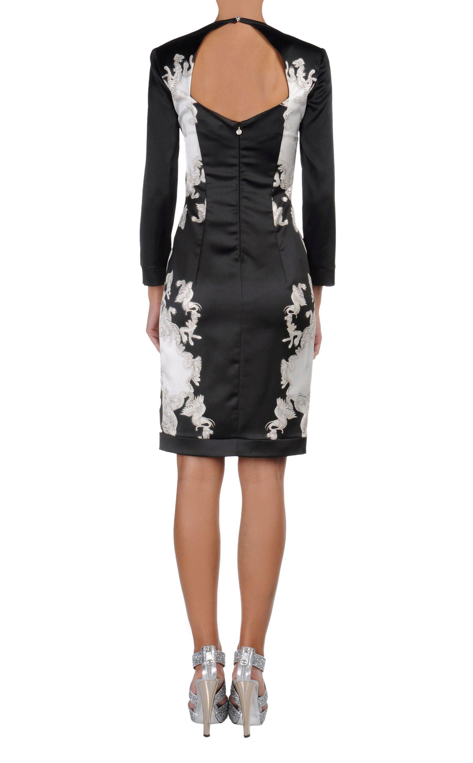 Decote nas costas. Abito corto Donna - Vestiti Donna su Just Cavalli Online Store