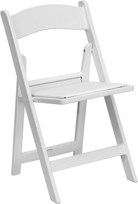 Wholesale White Resin Folding Wedding Chair With White Vinyl Cushion Seat Weather Resistant Lowest Folding Chair White Folding Chairs Flash Furniture