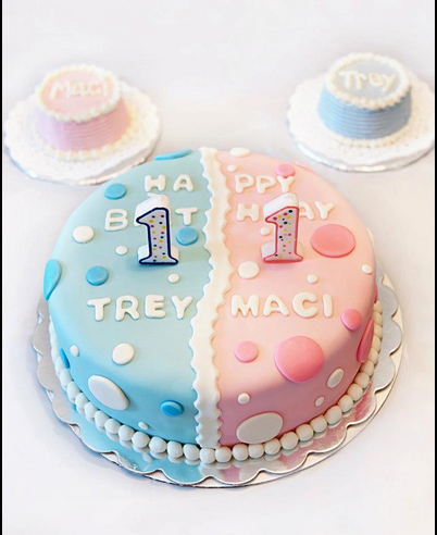 Pleasant Twins First Birthday Twin Birthday Cakes New Birthday Cake Personalised Birthday Cards Veneteletsinfo