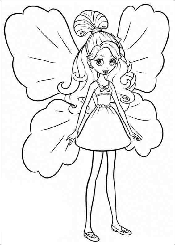 Barbie Tommelise Tegninger til Farvelægning 4 | malebog pige ...