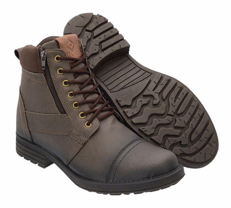 39bdd003b9 sapato botina casual social masculino ziper frete gratis