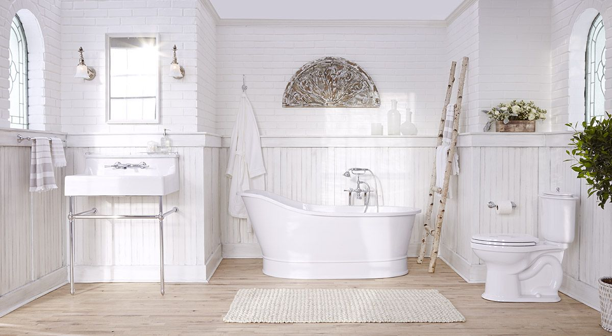 New from DXV, the Oak Hill console lavatory, freestanding slipper ...