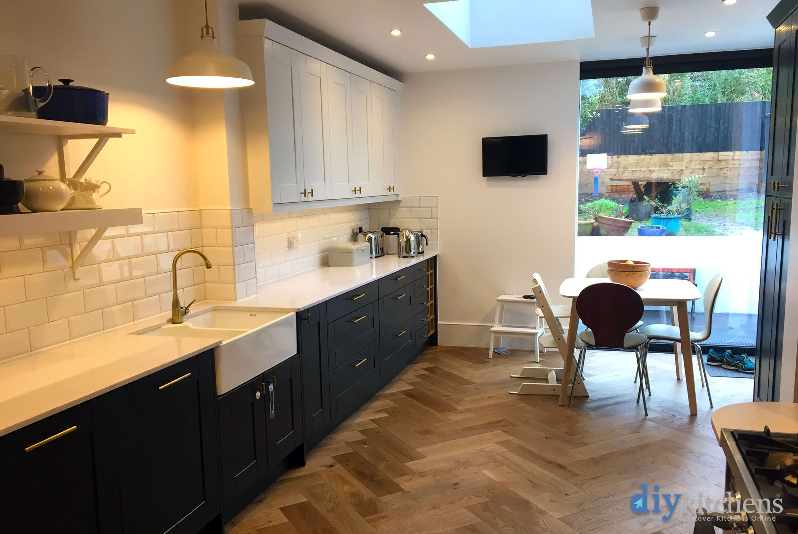 An Innova Linwood Bespoke Painted Shaker Kitchen Diy Kitchen