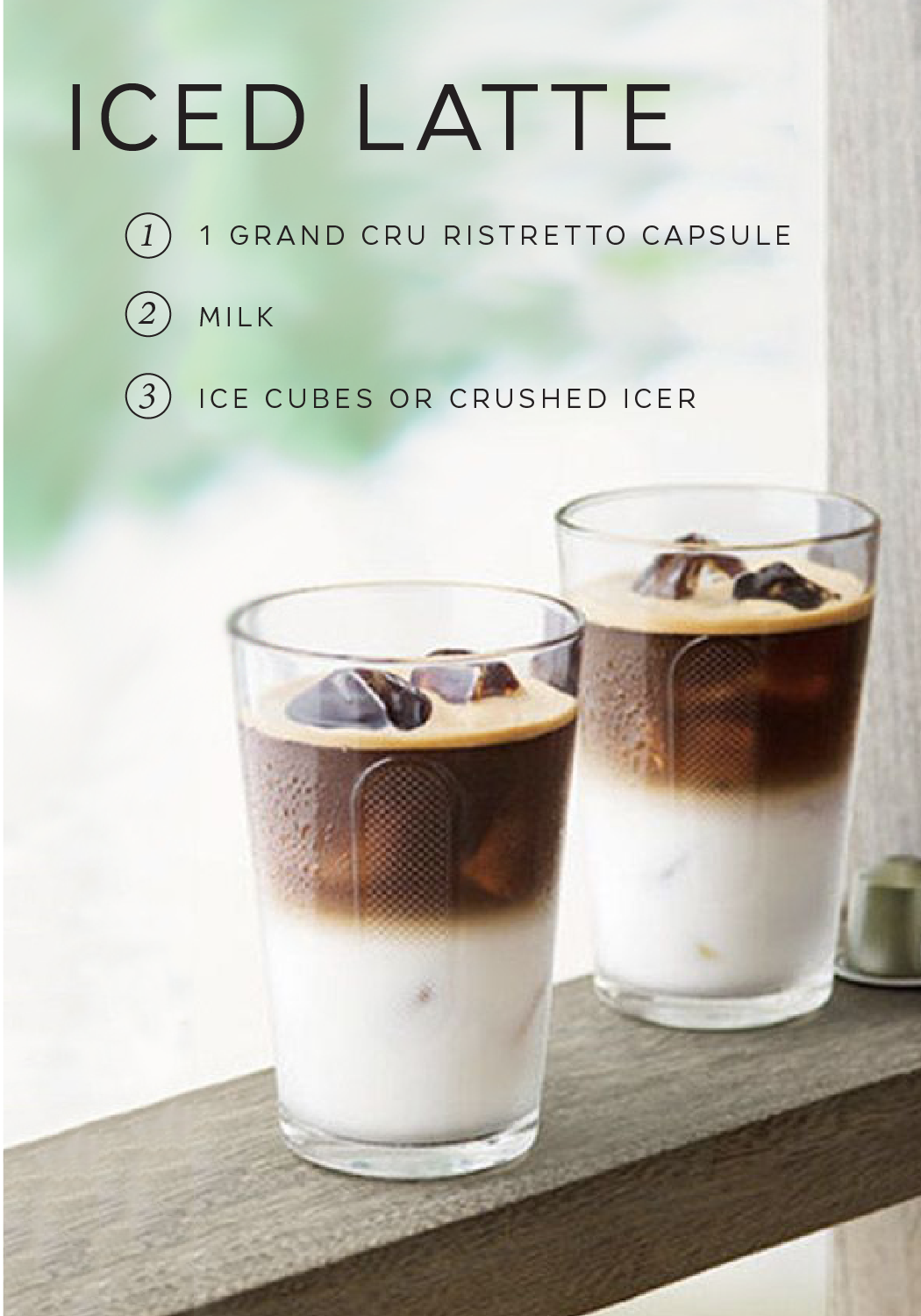 Iced Latte Recipe Coffee Recipes Nespresso Recipes Iced Latte