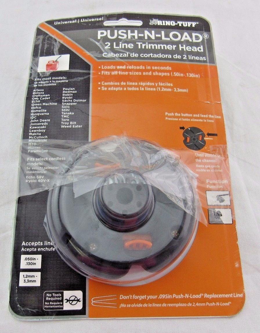 Rino-Tuff Push-N-Load Universal Trimmer Head replacement 2-line