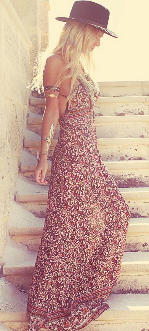 Robe Longue Boheme Robe Hippie Chic Mode Bohemienne Et Belles Robes Longues