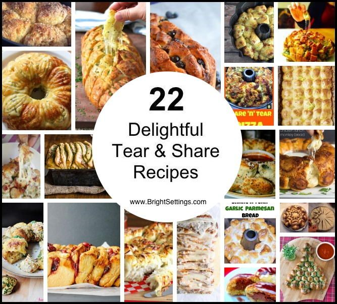 22 Delightful Tear and Share Recipes #tearandsharebread
