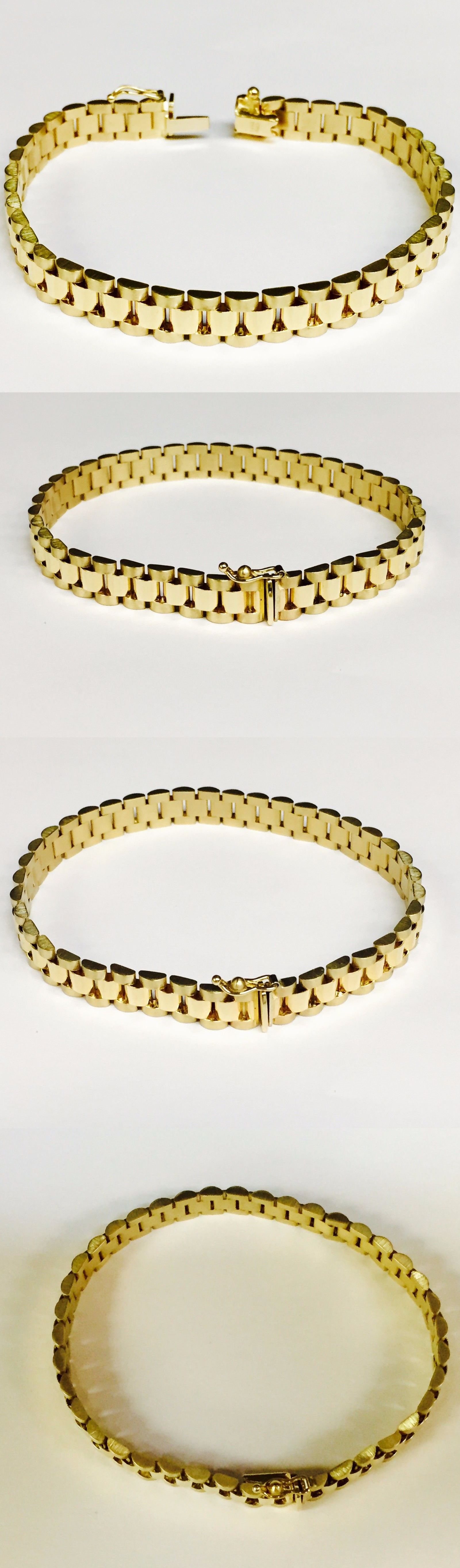 Bracelets kt solid yellow gold rlx style link mens