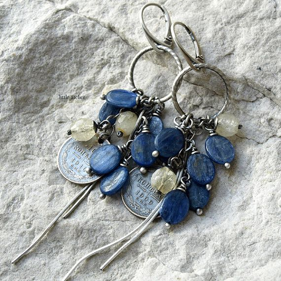 coin earrings apatite earrings sterling silver by littleatelier