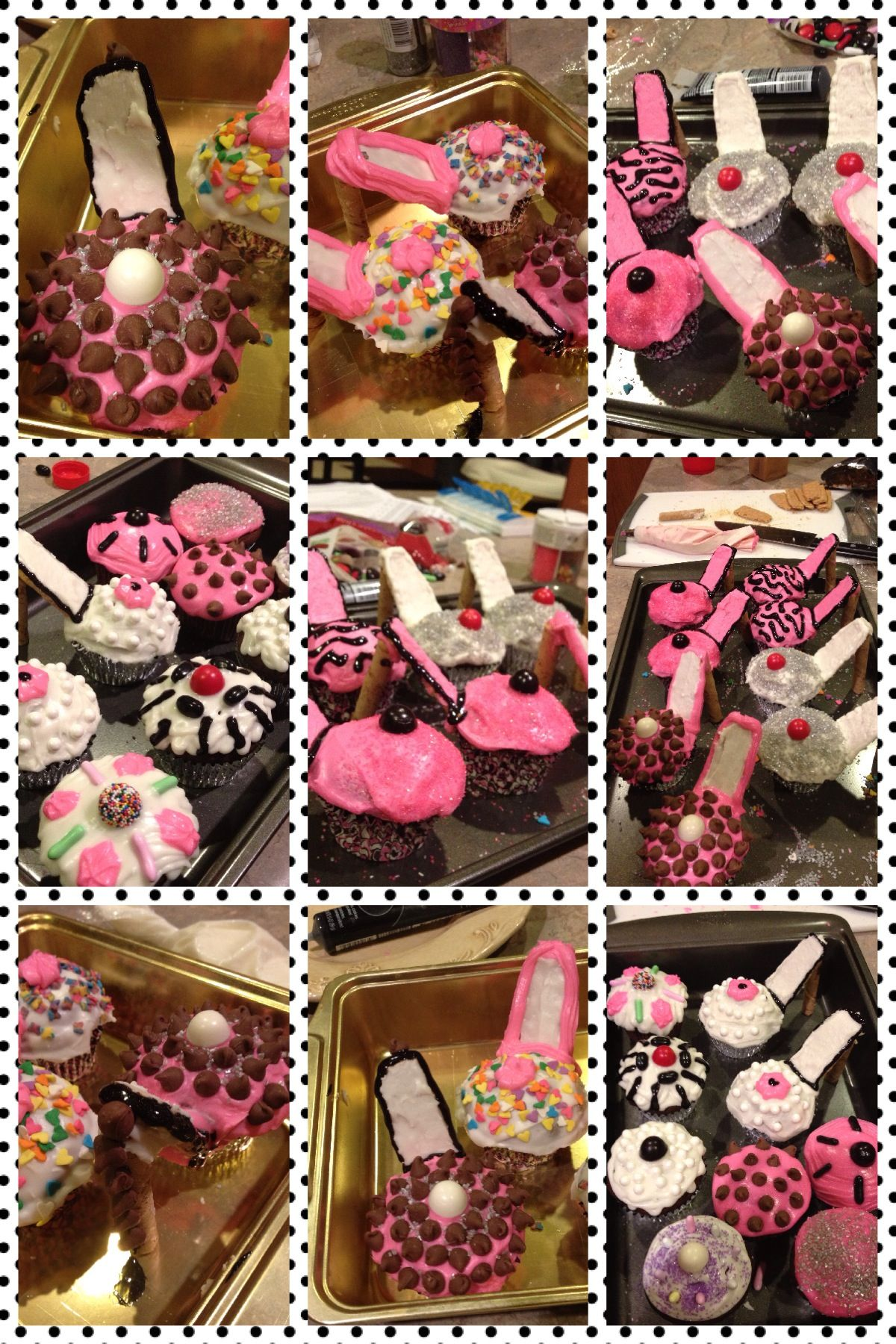 Gorgeous high heel cupcakes that my sister made me for my birthday!