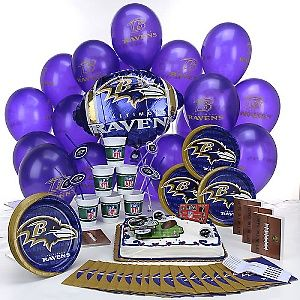 fd04c271 Baltimore Ravens Birthday Party Kit | Holidays and Birthdays ...
