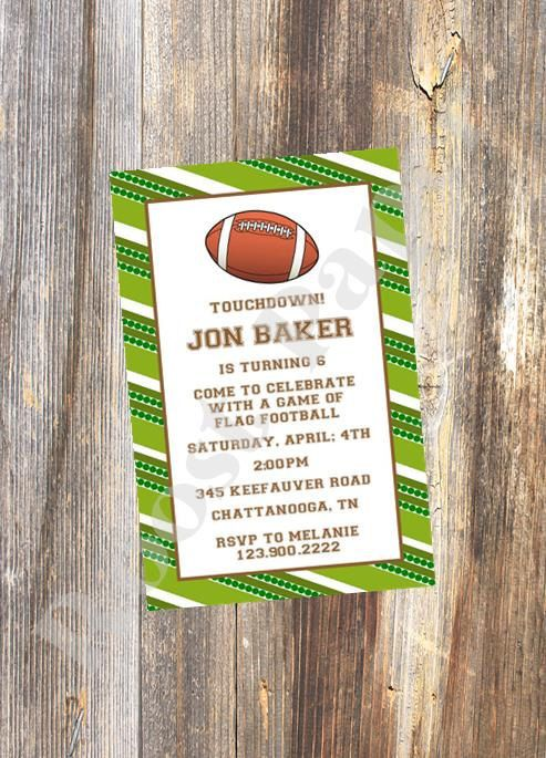 Football Party Invitation / Football Birthday by RoostPaperie, $13.00