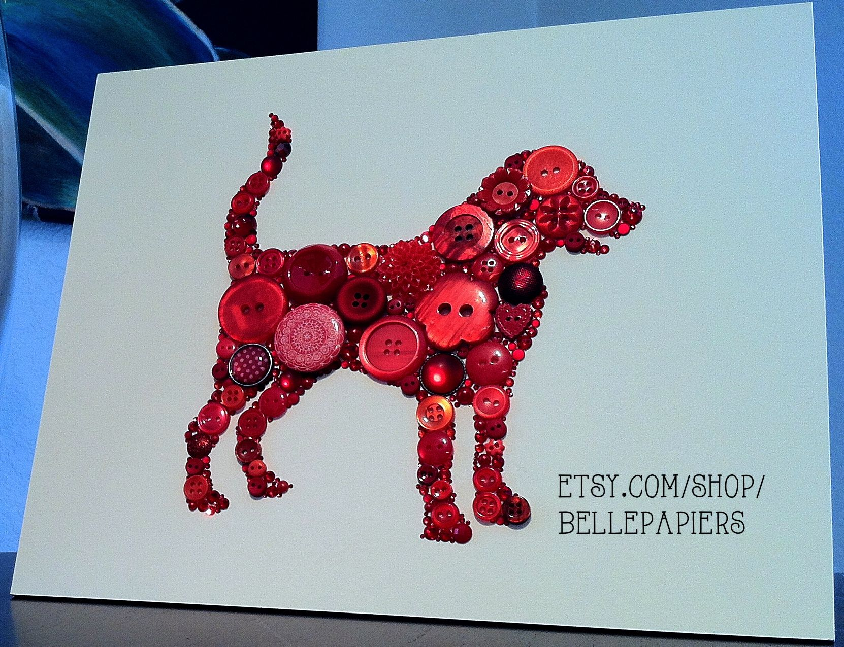 Button Art Red Dog
