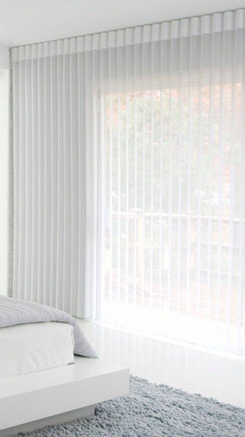 White Ripplefold Sheers Drapery Curtains Ceiling