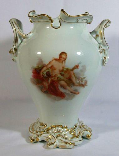 Meissen Vase Venus Cupid Meissen Porcelain Pinterest
