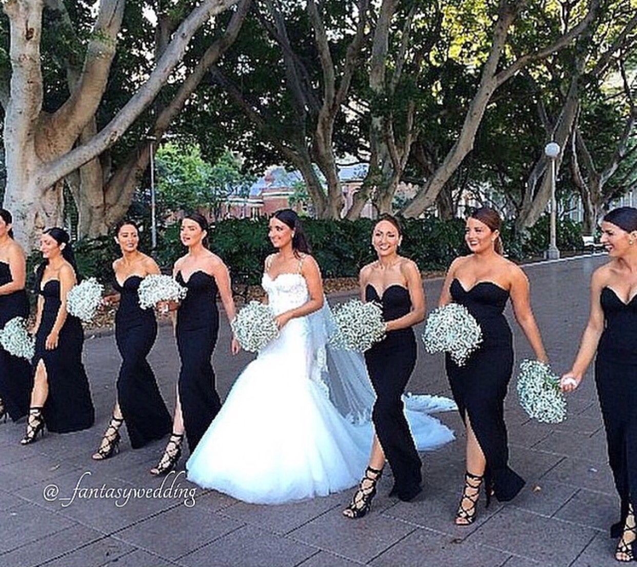 Black Bridesmaid Dress Mermaid Bridesmaid Dresses Bridesmaid Black Bridesmaids [ 1105 x 1242 Pixel ]