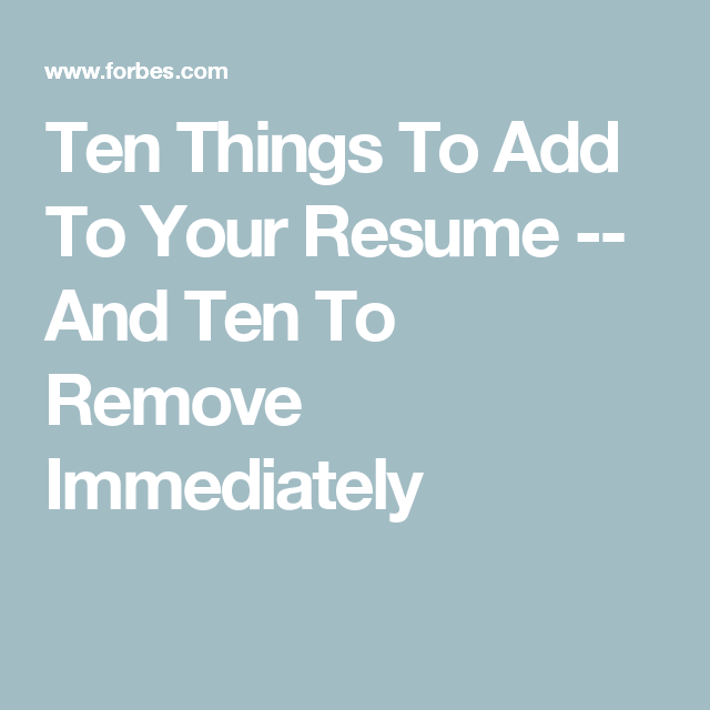 things to add to a resumes