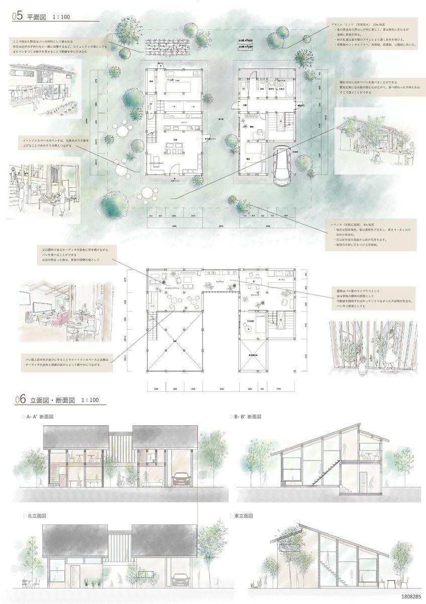 受賞作品 木の家設計グランプリ 建築プレゼンテーションボード