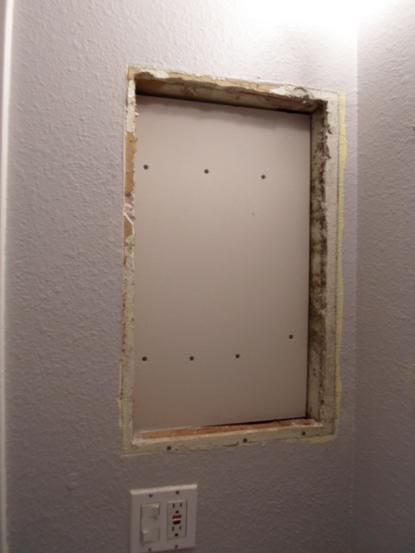 How To Replace Medicine Cabinet With Open Shelves Bathroom