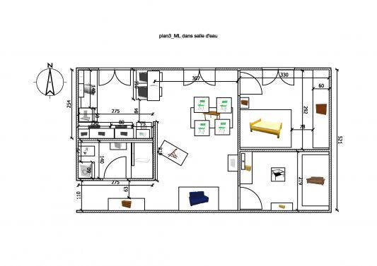 plan amenagement appartement 50m2