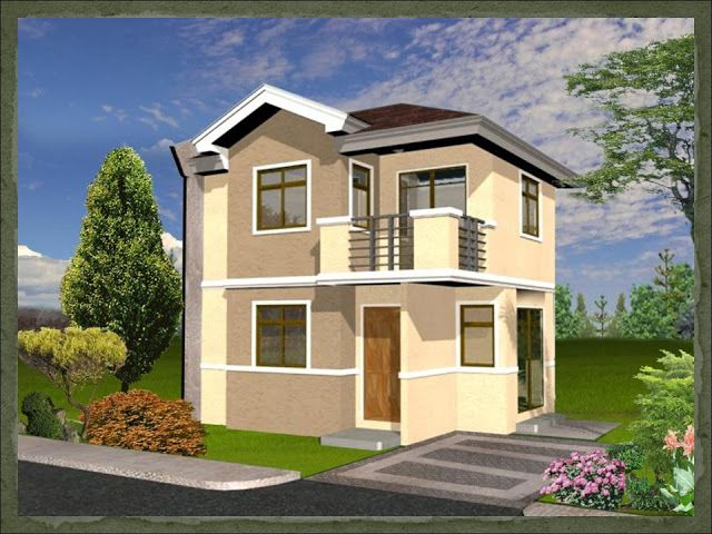 A two storey 2 bedroom home fitting in an 80 square meter for Simple two storey house design