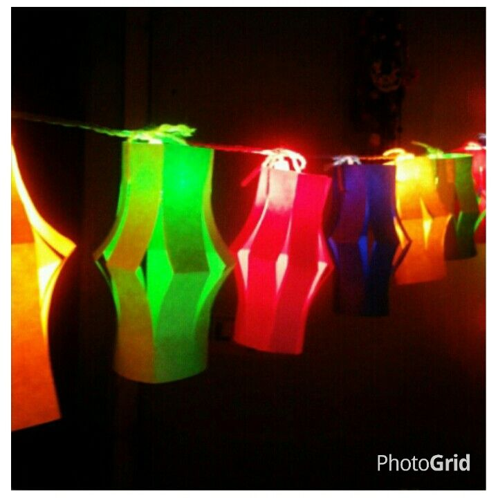 Happy paper lanterns
