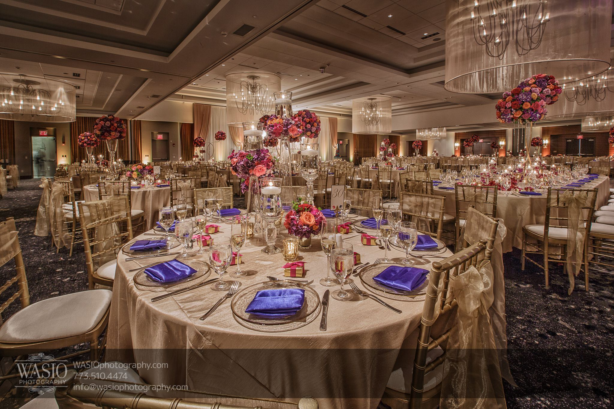 Indian Wedding Reception At Hilton Columbus Downtown Wedding Venue
