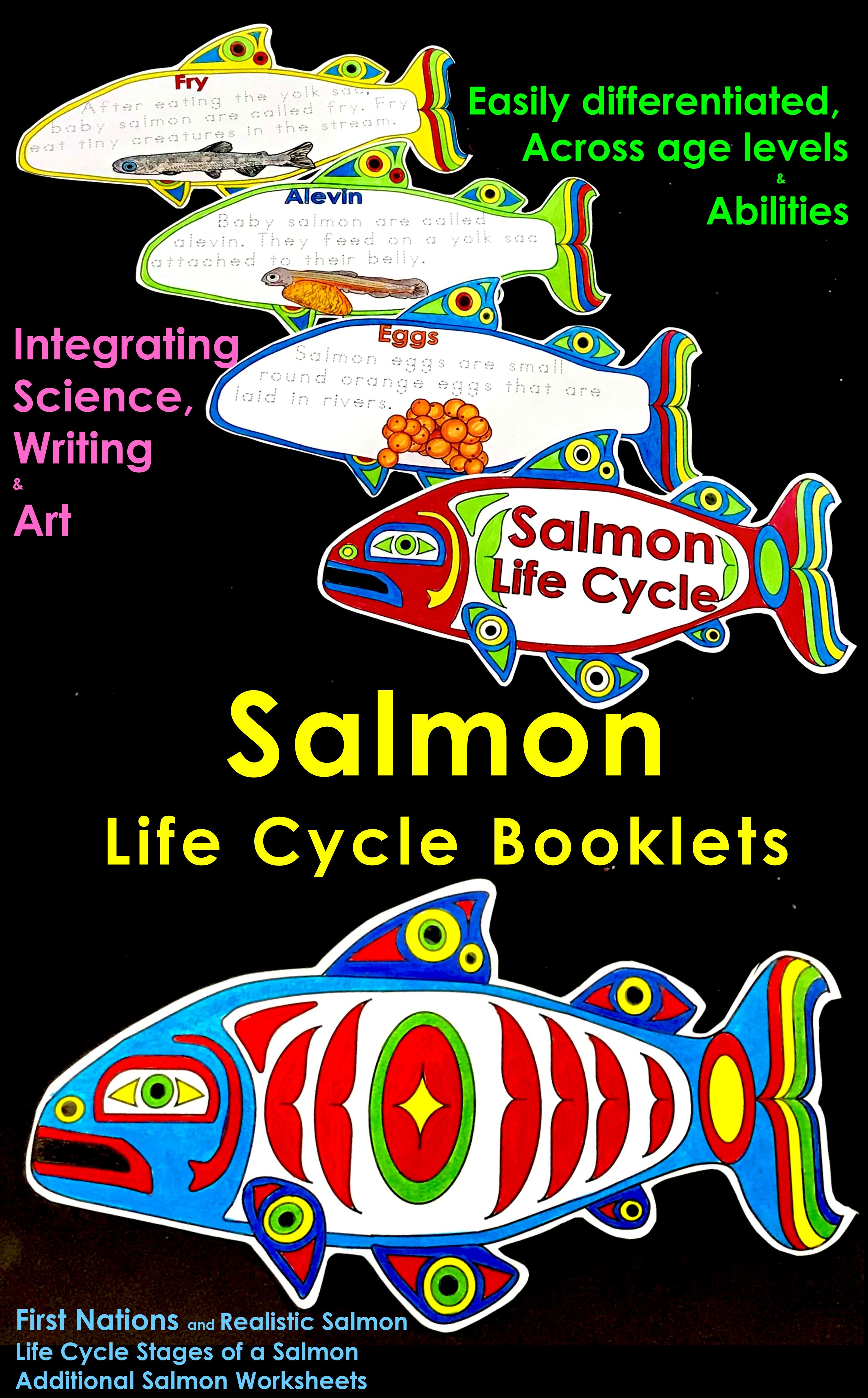 Salmon Life Cycle Salmon Craft Salmon Shape Booklet Life Cycles Writing Art Winter Crafts