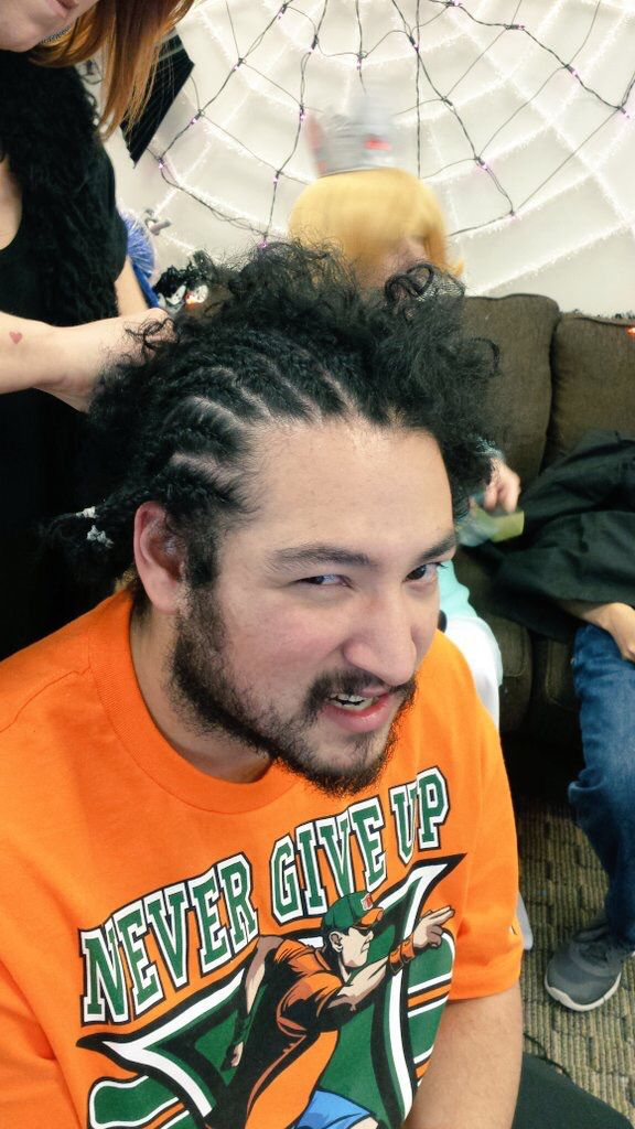 Cow Chop Halloween 2020 Guests CorNova James getting cornrows after raising $20k during The