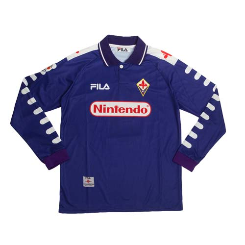 98 99 Fiorentina Home Purple Retro Long Sleeve Jerseys Shirt Cheap Soccer Jerseys Shop Long Sleeve Jersey Shirt Jersey Shirt Long Sleeve Jersey