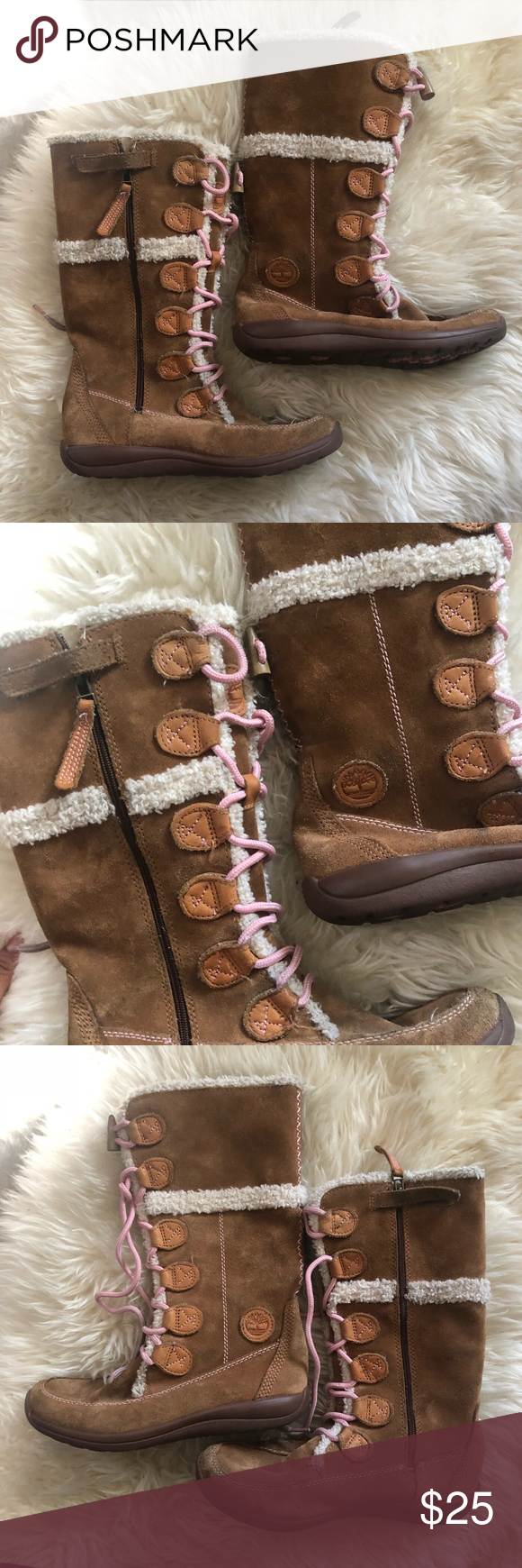 eea4a24046b9e Timberland Winter Snow Boots Girls size 4 Timberland snow boots in size 4  with no holes or rips and comes from a smoke free home.
