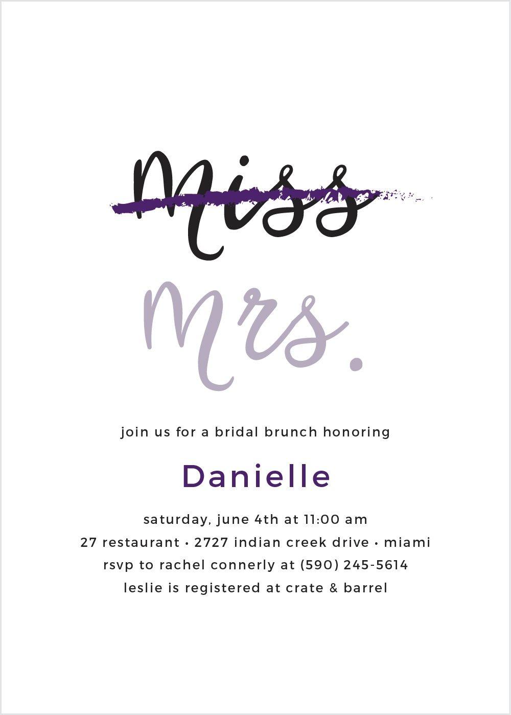 Miss to Mrs. Bridal Shower Invitations | Shower invitations, Bridal ...