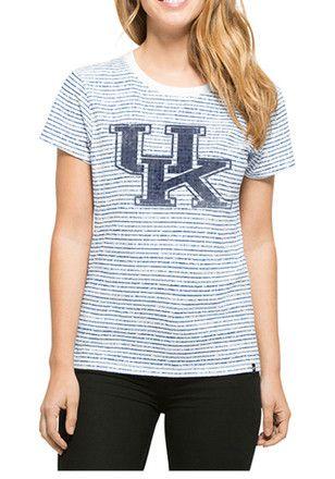 '47 Kentucky Wildcats Womens Sparkle Stripe White T-Shirt