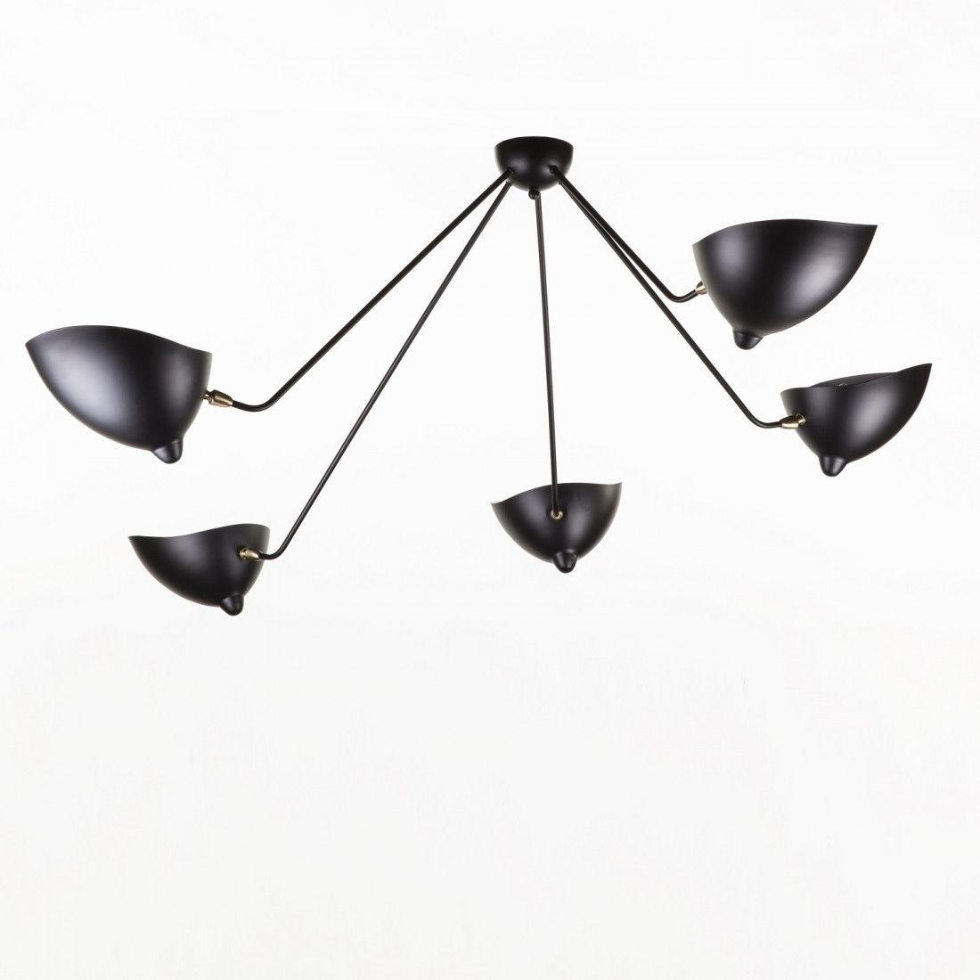 Mid Century Modern Reproduction 5 Arm Mcl Sp5 Spider Ceiling Lamp Inspired By Serge Mouille Ceiling Lamp Serge Mouille Ceiling Lamp Lamp