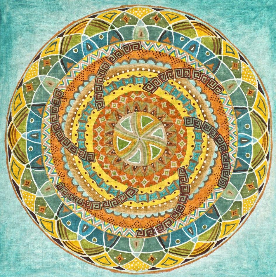 native american theme mandala by anat bar shalom