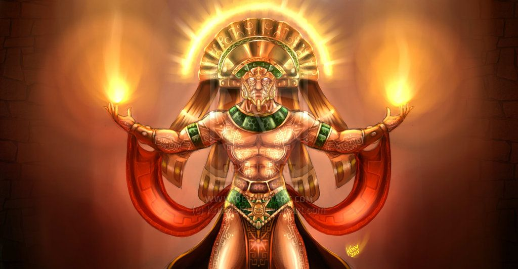 THE INCA GOD INTI: THE GOD SUN by KruzdelZur.deviantart.com on @deviantART