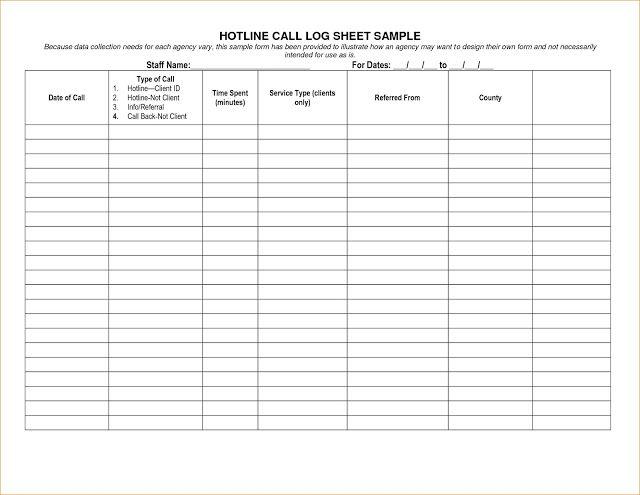 Business Phone Call Log Template Printable call log templates