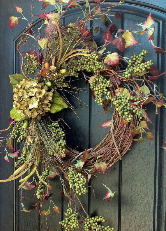 Enfeite De Outono ~ Corona navideña Florals, Wreaths and More Pinterest Guirlandas, Guirlanda e Guirlandas de