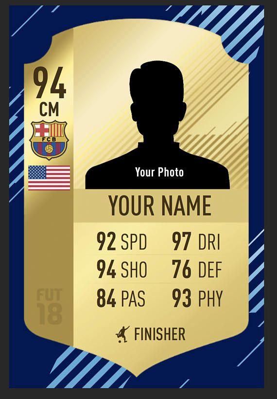 Fifa Ultimate Team Card Fully Customized Soccer Card Fifa Ultimate Team Custom Gift Socc Fifa Futebol Esportes