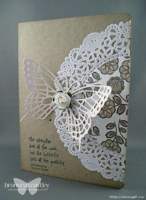 Изготовление открытки из салфеток